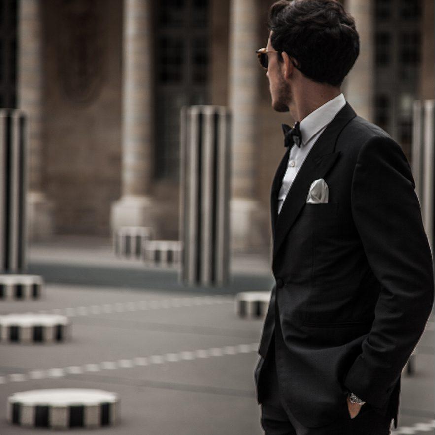 StarkandSons Tailleur Costumes Homme Paris Stark&Sons smoking noeud papillon chemise sur mesure