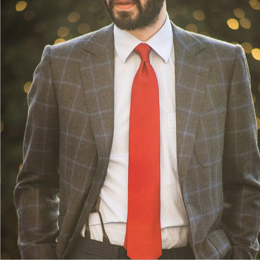 StarkandSons Tailleur Costumes Homme Paris Stark&Sons cravate grenadine soie veste pantalon chemise sur mesure
