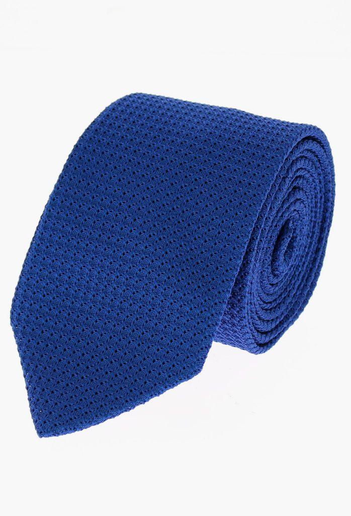 StarkandSons Tailleur Costumes Homme Paris Stark&Sons cravate grenadine soie bleu roi