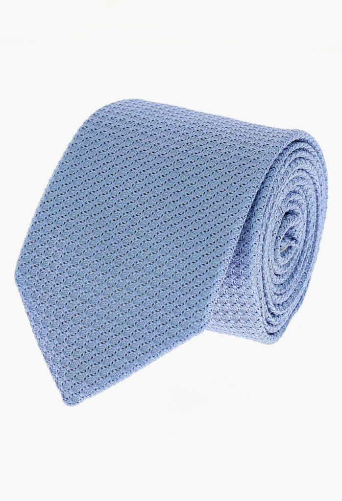 StarkandSons Tailleur Costumes Homme Paris Stark&Sons cravate grenadine soie bleu ciel