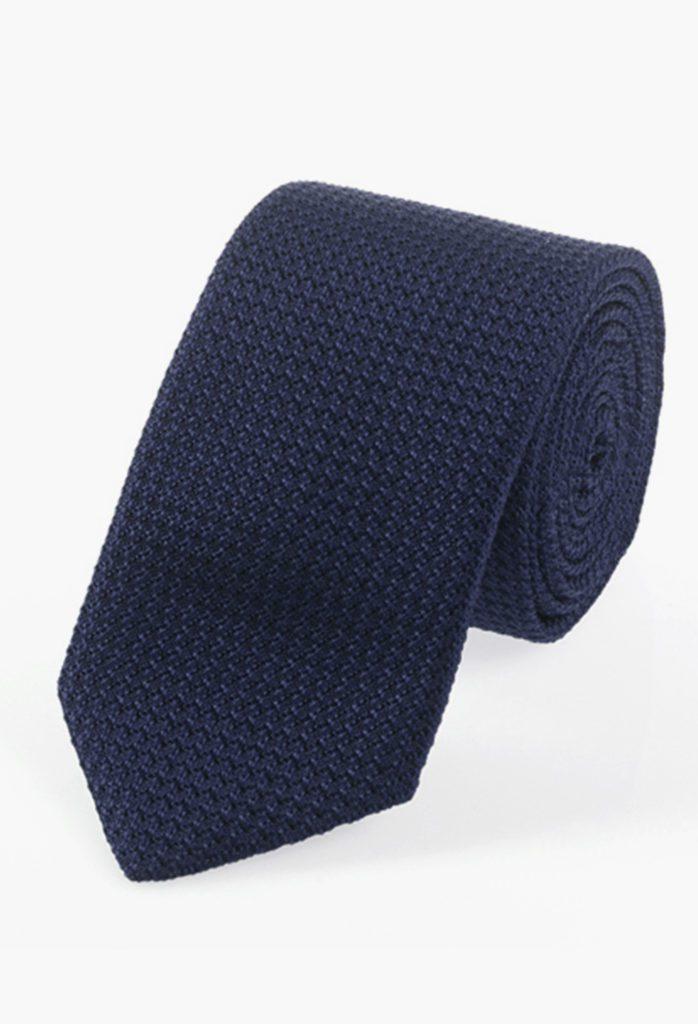 StarkandSons Tailleur Costumes Homme Paris Stark&Sons cravate grenadine soie bleu nuit