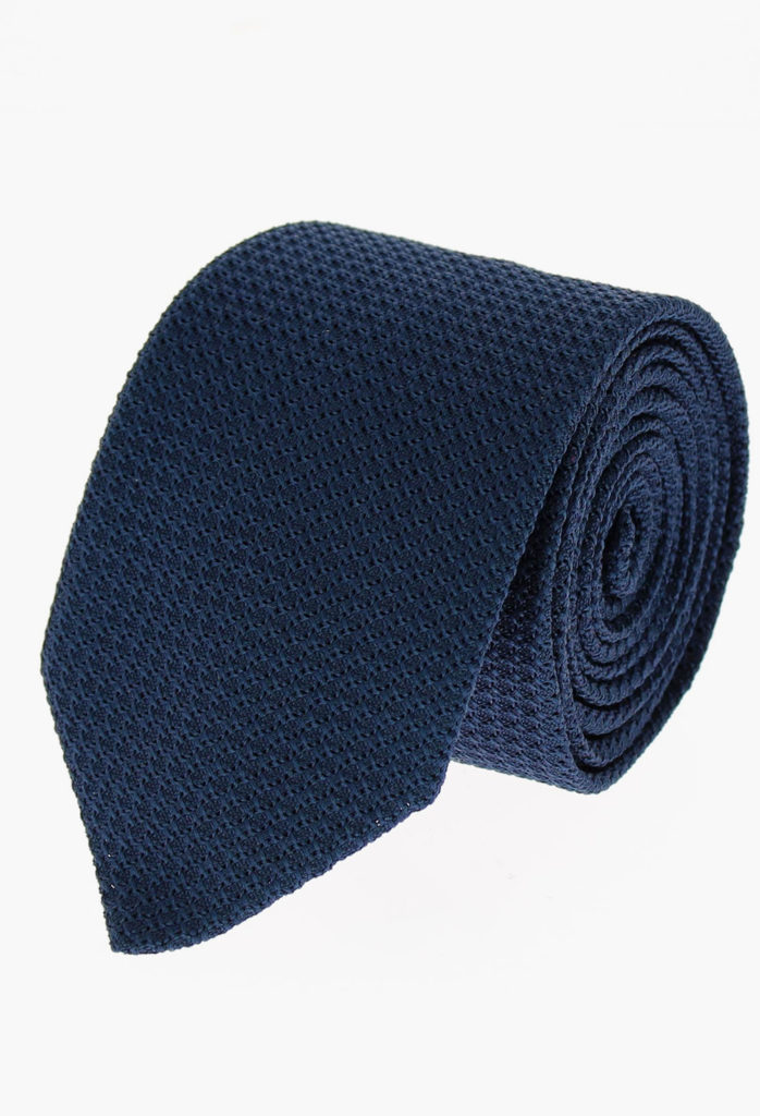 StarkandSons Tailleur Costumes Homme Paris Stark&Sons cravate grenadine soie bleu marine