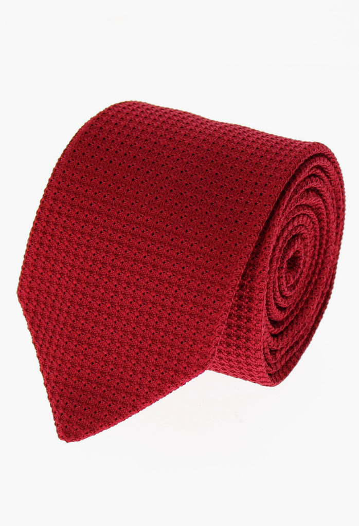 StarkandSons Tailleur Costumes Homme Paris Stark&Sons cravate grenadine soie rouge carmen
