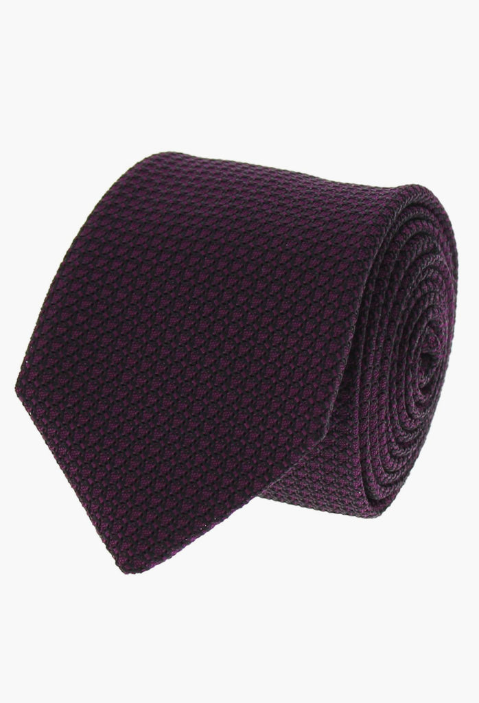 StarkandSons Tailleur Costumes Homme Paris Stark&Sons cravate grenadine soie Violette
